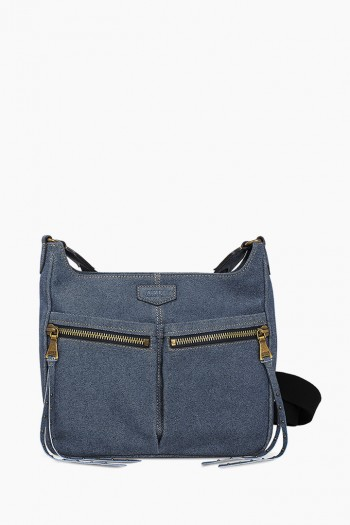 You Got This Crossbody, Dark Denim Leather