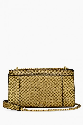 You're A Stud Large Crossbody, Gold Fish Scales