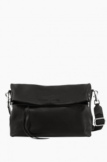 West 33rd Convertible Fold-over Crossbody, Black