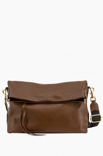 West 33rd Convertible Fold over Crossbody, Espresso