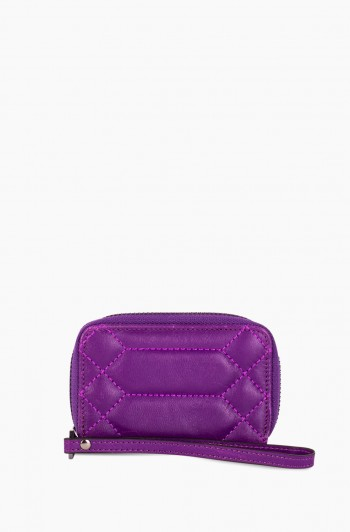 Dusk Till Dawn Zip Around Card Case, Violet
