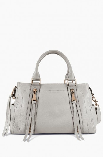 Zip Me Up Triple Entry Satchel, Elephant Grey