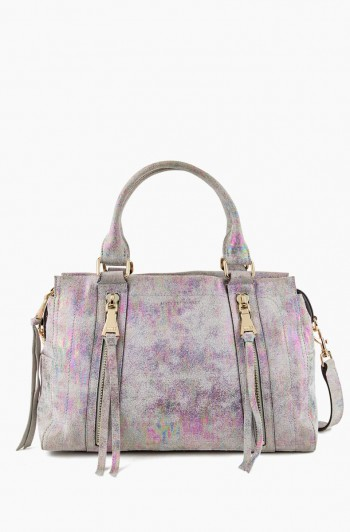Zip Me Up Triple Entry Satchel, Sunrise Metallic