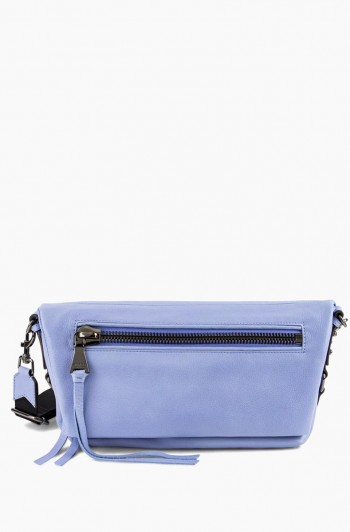 Zip Me Up Double Entry Shoulder Bag, Periwinkle