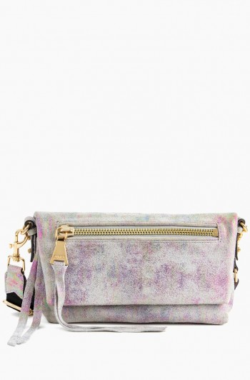 Zip Me Up Double Entry Shoulder Bag, Sunrise Metallic